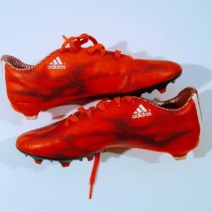 Adidas Cleats Mens Size 7.5  Red Orange